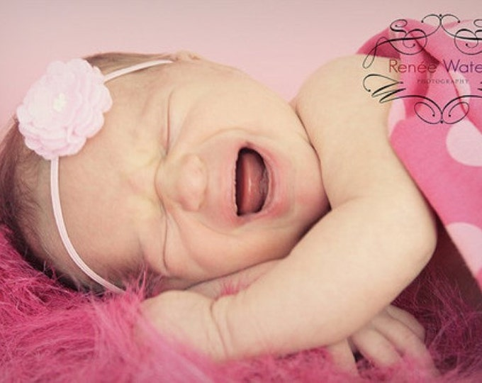 Pink Felt Flower Headband ~ Infant Headband - Newborn Headband - Toddler Headband ~ Baby Girl Headband