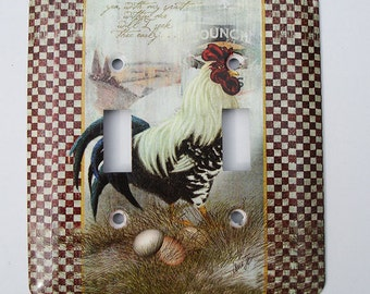 Rooster Metal Switch Plates and Outlet Covers