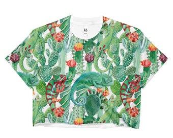 Chameleon Crop Top, Chameleon, Crop Top, Festival, Festival Clothing, Rave, Rave Clothing, Rave Outfit, Vegan, Vegan Shirt, Vegan Clothing