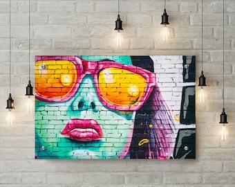 Street Art Girl Graffiti Wall Art Decor