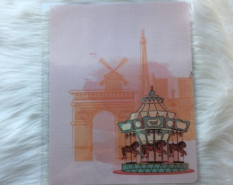 French Carousel Happy Planner Cover