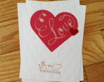 Valentine Card, Valentine gift, Valentine's Day card, Stampin up card, Love card, Romance card, Girlfriend card, Homemade card, card for her