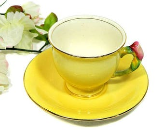Royal Winton Grimwades Rosebud Small Teacup Demitasse Yellow