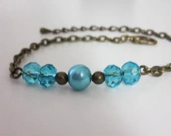 Bronze - 004 blue Boho bracelet