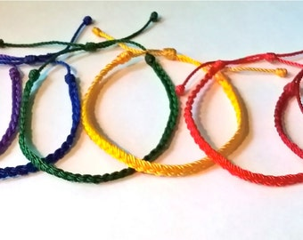 Set of 6 Colorful Thin Bracelets