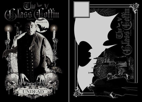 Single The Glass Coffin Undead Postcard