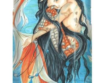 Original Artwork Mermaid or Custom Phone Case