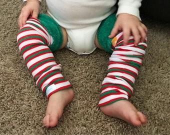 Christmas Elf Baby Leg Warmers | Baby Leggings | Toddler Leggings | Baby Gifts | Leggings | Baby Pants | Gender Neutral | Christmas
