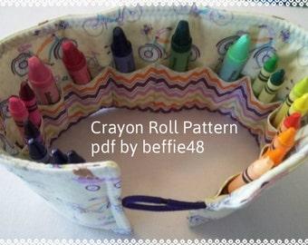 PATTERN, Kids Crayon Holder,Tutorial Pattern, pdf file w photos