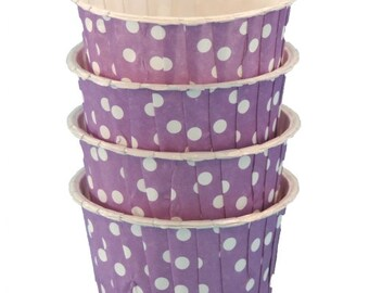 Purple with White Dots Candy Nut Cups are perfect for filling with candy, nuts or other snacks