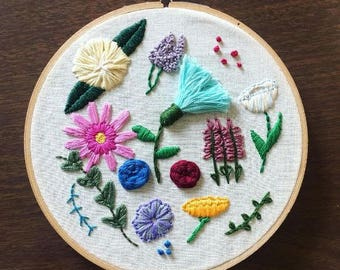 Floral Embroidery - Botanical Embroidery - Hand Embroidery