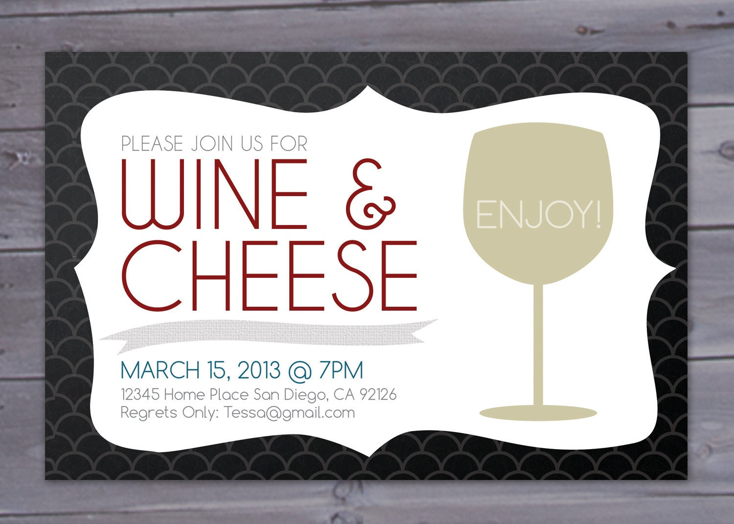Wine and Cheese Party Invitation Printable