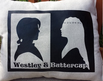 Westley and Buttercup Pillow - The Princess Bride
