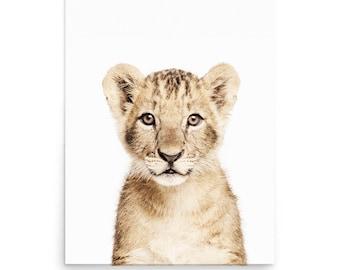 Lion Print, Baby Lion, Nursery Animal Print, Lion Portrait, Nursery Decor, Animal Nursery Art Decor,  Digital Prints, Instant Download