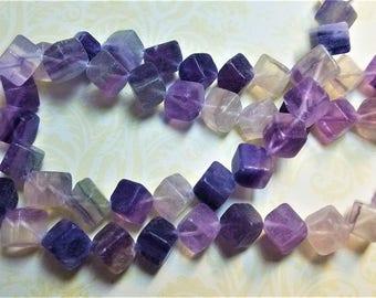 Fluorite gemstone cubes