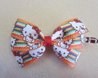 Small Hello Kitty Pinwheel Hair Bow