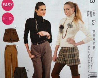 Uncut 2010 McCall's Sewing Pattern 6403, Size 8-10-12-14-16; Misses' /Women's Shorts and Pants in Two Lengths
