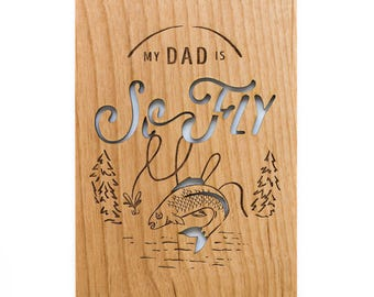 My Dad is So Fly Wood Card [Father's Day Card / Father or Dad Birthday Card]