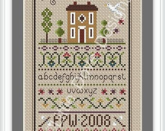 Home Sweet Home Cross Stitch Sampler PDF Chart INSTANT DOWNLOAD