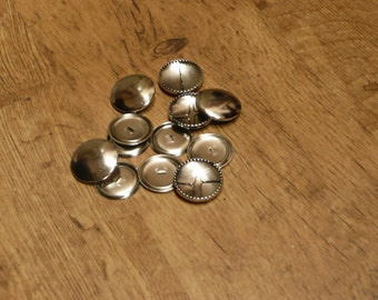 Individual 38mm large self cover metal button - customisable with fabric of your own