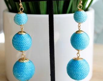 Blue Ombre Bon Bon Drop Earrings