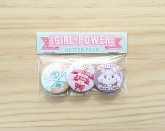 Girl Power Button Pack