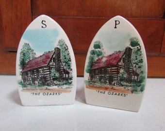 Ozarks Iron Salt and Pepper Shakers Iron Made in Japan