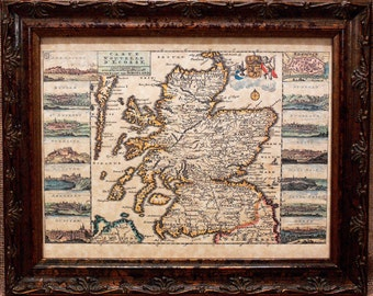Scotland Map Print of a 1747 Map on Parchment Paper