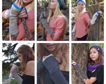 Wool Fingerless Gloves - Merino Wool Fingerless - Choose Your Colourway Fingerless Gloves