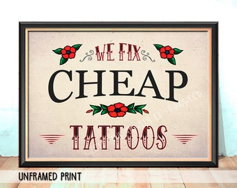 Tattoo Parlor Sign - Graduation Gift - Tattoo Studio Decor - Tattoo Artist Gift - Fathers Day Gift - Mothers Day Gift - Bar Decor