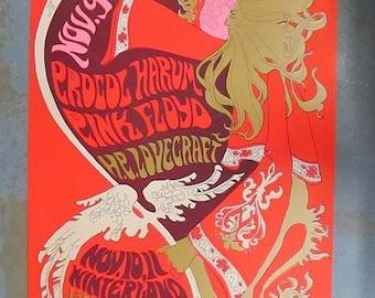 Pink Floyd Procol Harum Winterland 1967 Fillmore concert poster 2nd