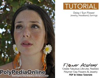 Polymer Clay Tutorial, Polymer Clay Jewelry, Polymer Clay, Handmade Flower, Polymer Clay Flowers, DIY Flowers, DIY Craft, Fimo Jewelry, PDF
