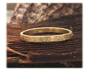 Gold Wedding Band, Gold Wedding Ring, Gold Sparkle Ring, Alternative Wedding Band ~ Yellow, Rose, White Gold/Palladium