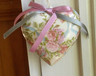 Valentine's Paper Mache Heart Ornaments|Valentine's Wall Decor