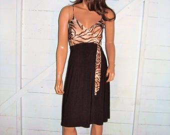Brown Animal Print Dress M