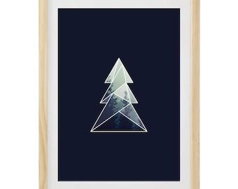 Christmas Poster | Christmas Printable | Christmas Poster | Christmas Tree Poster | Christmas Painting | Ideas Gift Christmas | Christmas gift