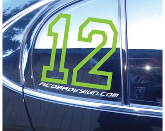 Seattle Seahawks 12th Man Lime Green Vinyl Decal