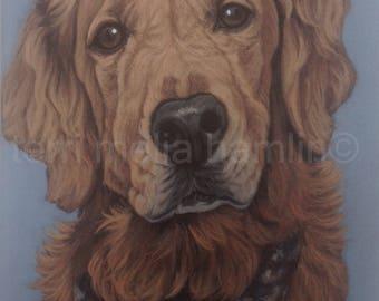 CustomDog Portrait, 9x12, Pet Portrait, Custom Pet Portrait, Painted Pet Portraits, Dog Portrait Custom, Fathers Day gift