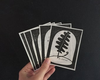 "Relief Printed Fern Bookplates - ""Ex Libris"""