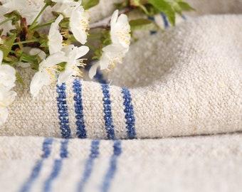 FP 431: antique, handloomed, CORNFLOWER BLUE ;grainsack, pillow, cushion, runner, 41.73 long,upholstery project,french lin,decor