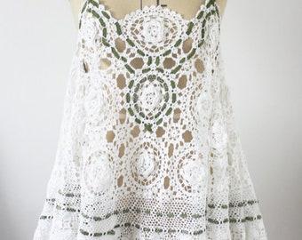 white crochet dress (beach coverup)