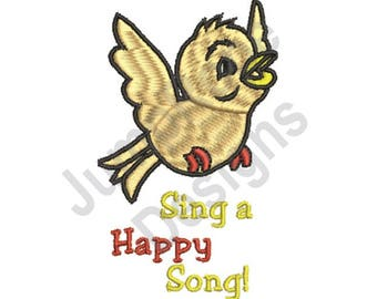 Happy Song - Machine Embroidery Design