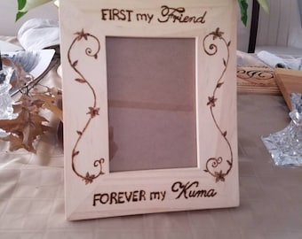 Kuma Picture Frame with Flowers