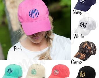 Monogrammed Cap, FREE Personalization, Personalized Baseball Cap, Women's Cap, Girl's Cap, Monogram Hat, Twill Hat, Adjustable Hat