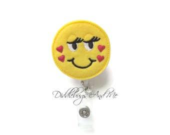 Love Badge Reel, Valentine Retractable Badge Reel, Nurse ID Badge Reel, Emoji ID Badge Reel, Retractable Badge Reel, Medical ID Badge