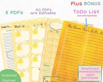 Queen Bee Planner Pages BUNDLE