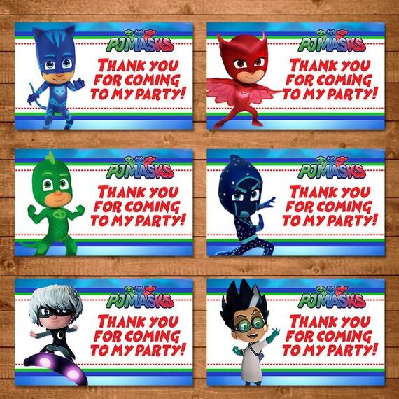 PJ Masks Party Tags - PJ Masks Favor Tags - PJ Masks Birthday Party Printables - Pj Masks Party Favors - Pj Masks Birthday Party Favor Tags