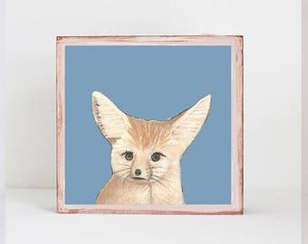 fennec fox, safari nursery art, jungle nursery art- baby boy,  safari nursery prints, jungle nursery decor-  playroom-  fox redtilestudio