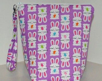 Colorful Easter bunnies project bag