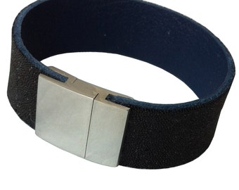 "Leather wristband ""Night Sky"""